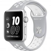"Apple Watch Nike+ 38 мм (MNNQ2) корпус из серебристого алюминия, спортивный ремешок Nike цвета ""листовое серебро/белый"""