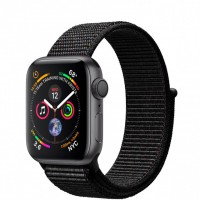 Apple Watch Series 4 (MU672) 40mm Space Gray Aluminum Case with Black Sport Loop