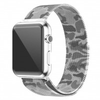 Ремешок Milanese Loop для Apple Watch 38mm камуфляж