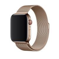 Ремешок Milanese Loop для Apple Watch 42/44mm золотой