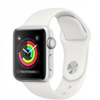 Apple Watch Series 3 (MQKW2) 38 мм, корпус из серебристого алюминия, спортивный ремешок белого цвета